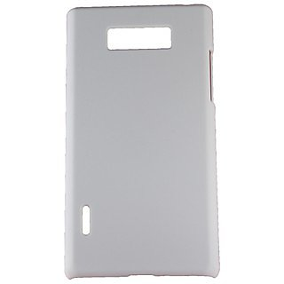 Fcs Rubberised Hard Back Case For Lg Optimus L7 In Matte Finish-White