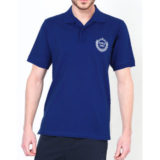 Clovia Blue Polo Neck Tee