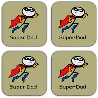 Mesleep Super Dad Magnets (Set Of 4)