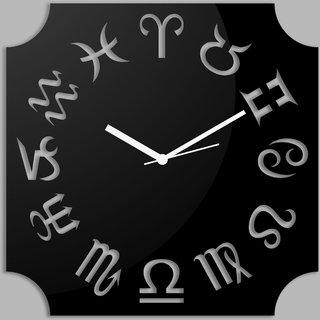 Creative Width Zodiac  Black Wall Clock