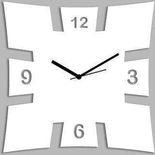 Creative Width Brick Style White Wall Clock