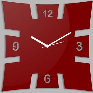 Creative Width Brick Style Red Wall Clock