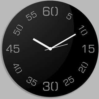 Creative Width Point Sixty Black Wall Clock