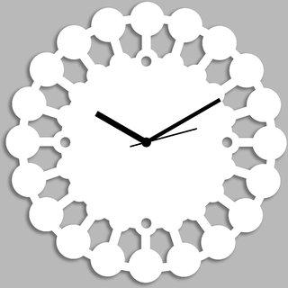 Creative Width Chakras  White Wall Clock