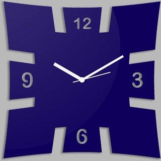 Creative Width Brick Style Blue Wall Clock