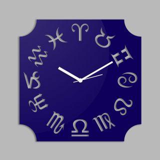 Creative Width Zodiac  Blue Wall Clock