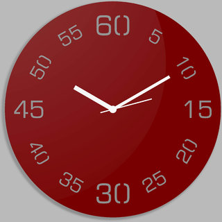 Creative Width Point Sixty Red Wall Clock