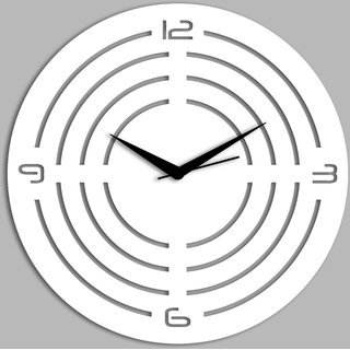 Creative Width Concircle Style 1 White Wall Clock
