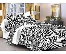 Story@Home Blue 100% Cotton Magic 1 Double Bedsheet-MG1443
