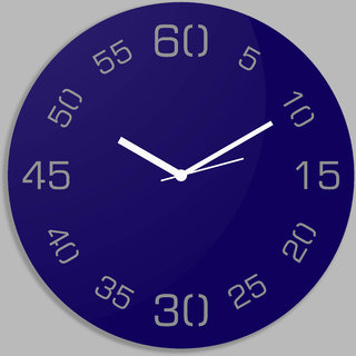 Creative Width Point Sixty  Blue Wall Clock