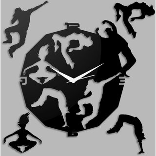 Creative Width Dancing Souls Black Wall Clock