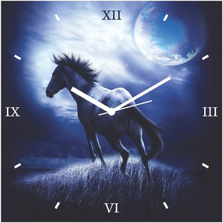 Creative Width Beauty In Moon Wall Clock