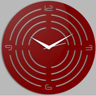 Creative Width Concircle Style 1 Red Wall Clock