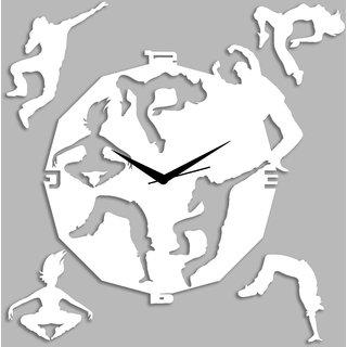 Creative Width Dancing Souls White Wall Clock