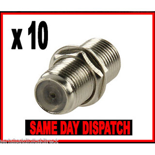 10  F to F back to back barrel connectors
