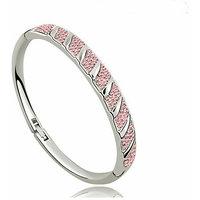 Peach colour Austrian Crystal Bangle Bracelet
