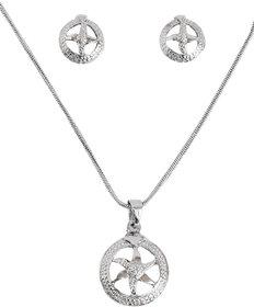 Touchstone Circular Silver Star Pendant Set