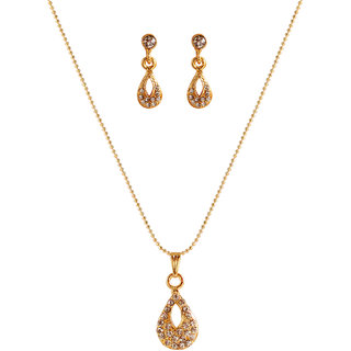 Touchstone Appealing Gold Plated Pendant Set