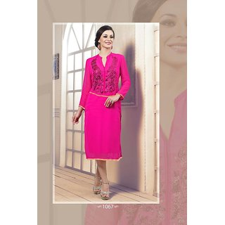 georgette kurtis top dress tunic