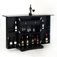 Indian Hub Bar Cabinet Black
