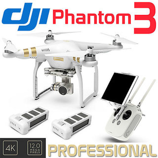 New DJI Phantom 3 Professional Drone 4K Camera▻Extra Batt