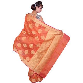 Red Check With Multi Color Cotton Silk Saree