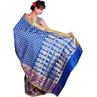 Rava With Multi Color Art Silk Saree