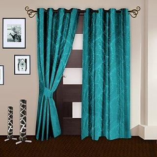 Story@Home aqua  Door Curtain Nature 2 Pc -DNR3035