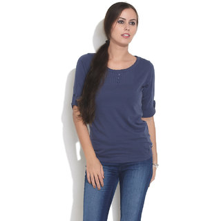 Espresso Classic Vintage Washed Top NAVY