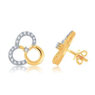 Jewel Pride 18 K Gold Earring set with Diamonds