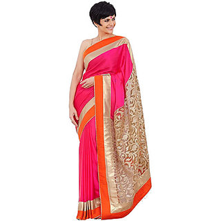 Designer MANDEERA PINK Bridal Wedding Partywear SAREE