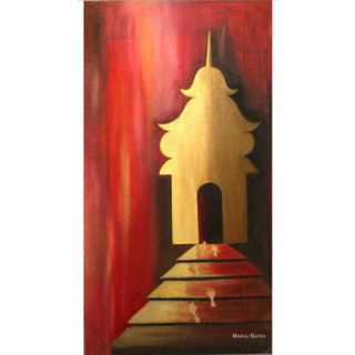 Steps to Heaven Handmade Canvas Painting