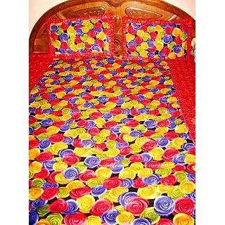 Red Cotton Bedsheet