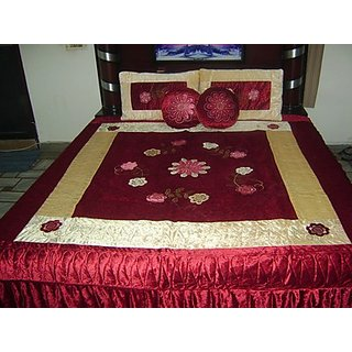 Double Bed Quilt- Poly Velvet & Dupion Silk - Florina Design