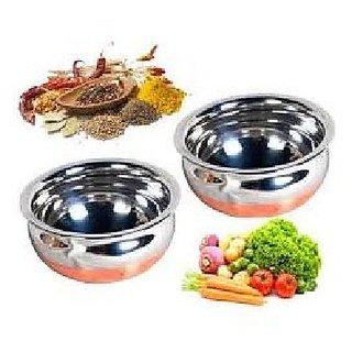 Best Price Set of 2 Haandi -,Cook and Serve