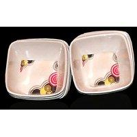 Set Of 12 Pcs Trendy White Melamine Vegetable Bowls Design 17