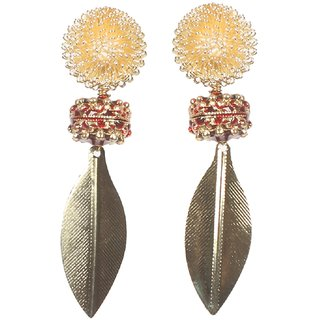 Envy Gold Plated Gold & Red Dangle Earring