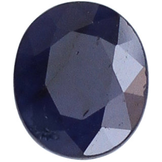Vardan Gems 3.76ct Oval Dark Blue Sapphire (Neelam) Birthstone Gemstone