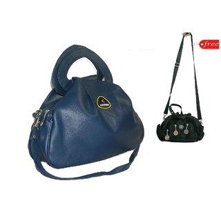 Sevvone Blue Hand Purse cum Sling Bag Leather Finish ...