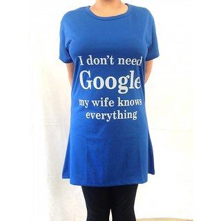 Rocana women T-shirt (Blue Google)