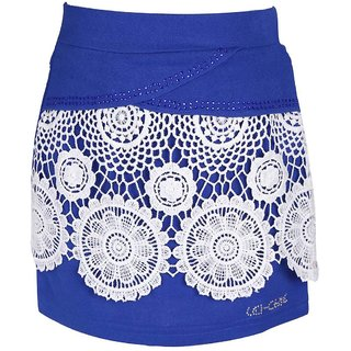 Leichie Casual Skirt With Lace Design No.4027 Blue