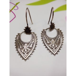 92.5  PURE SILVER OXIDIZED EARRINGS