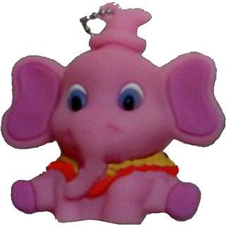 Microware Pink Elephant Shape 16 Gb Pen Drive