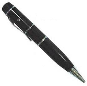 Microware Black Pen With Laser Pointer Shape 8 Gb Pen Drive
