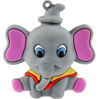 Microware Grey Elephant Shape 8 Gb Pen Drive