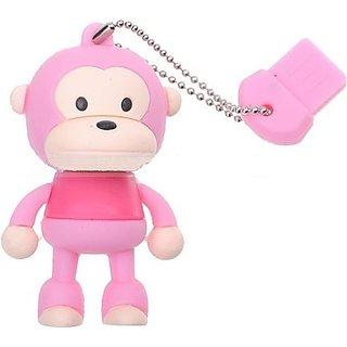 Microware Monkey Pink Shape Designer 8 Gb Pendrive