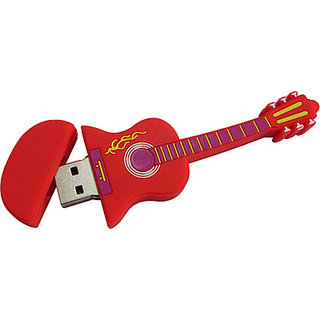 Microware Red Electric Guitar Shape 8 Gb Pen Drive