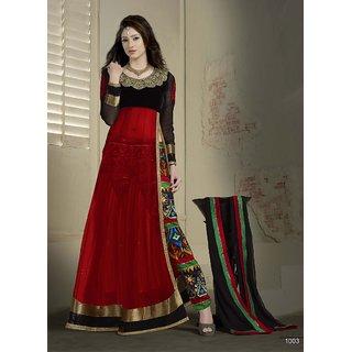 Red Designer Anarkali Suit