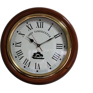 Somyaleger Ship Timekeeper Wooden Wall Clock
