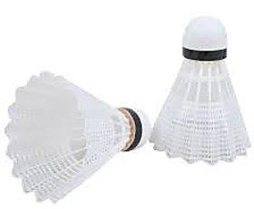 Badminton Nylon Shuttle Cock  White  10 pcs
